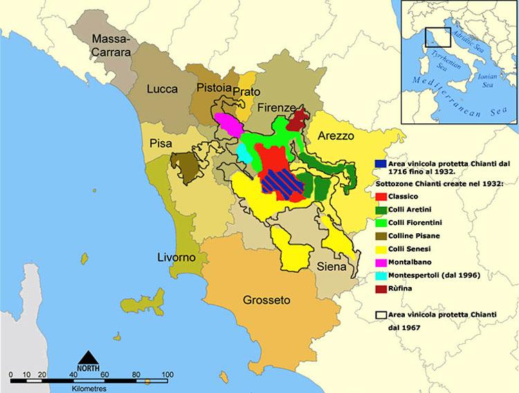 Cartina Della Toscana Con Tutti I Comuni.Tutte Le Localita Del Chianti Comuni Della Zona Del Chianti